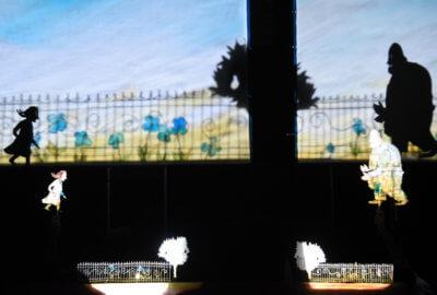 Lila et son ami Rien en théâtre d'ombres par le Teatro Gioco Vita