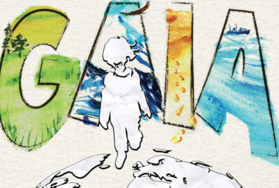 Dessin d'illustration de l'histoire de Gaïa