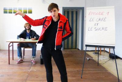 Représentation de The Lulu Projekt dans une école par le Ring Théâtre